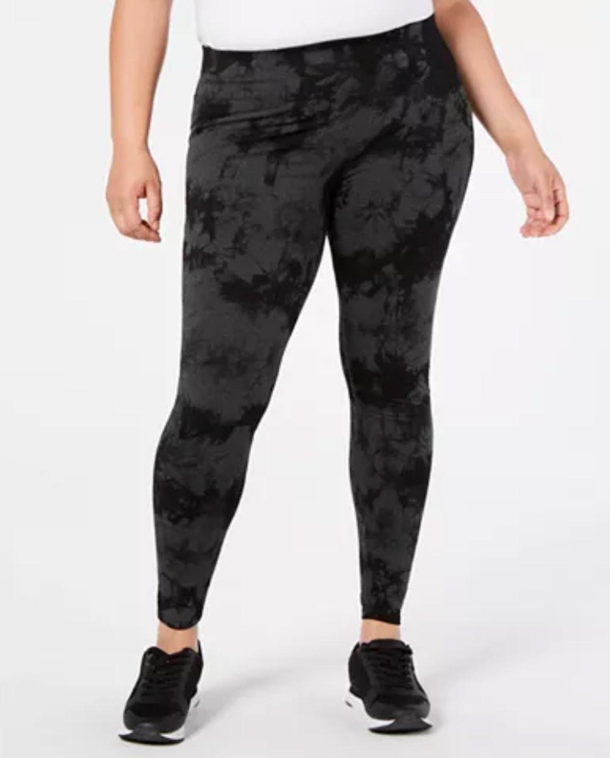 Calvin Klein Performance Plus Size Tie-Dyed High-Waist Leggings
