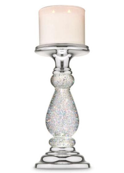 Silver Swirling Glitter Pedestal