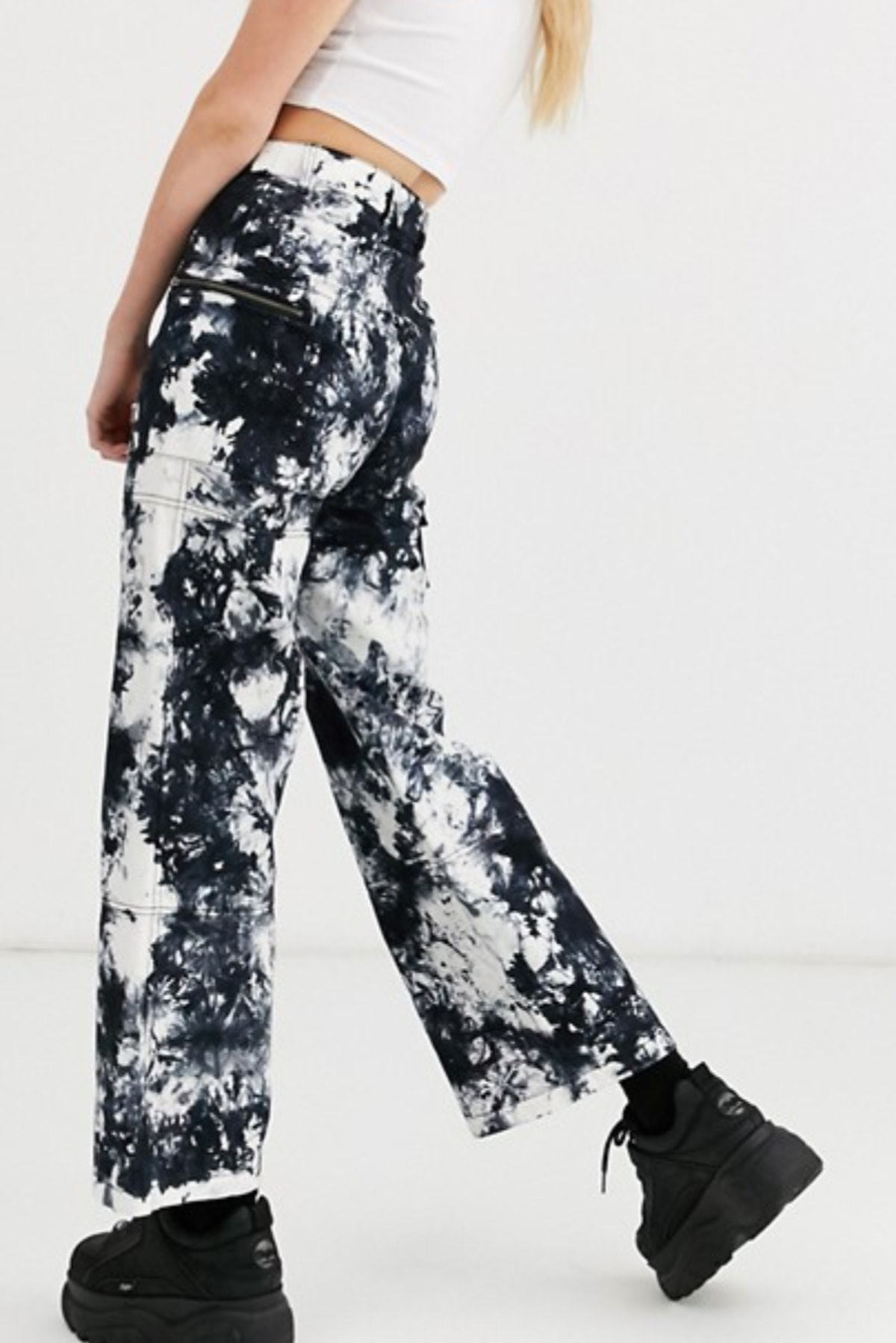 COLLUSION tie dye cargo pants with pocket