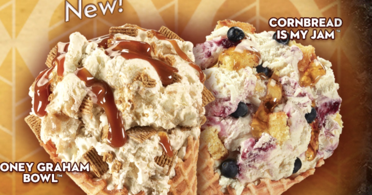 Cold Stone Creamery's August 2019 New Creations Include One With Cornbread Stuffed In It