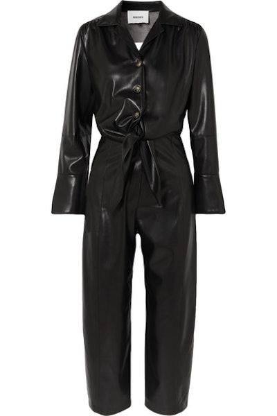Ana Cutout Vegan Leather Jumpsuit