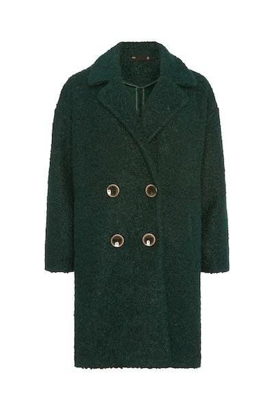 F&F Green Bouclé Snit Coat