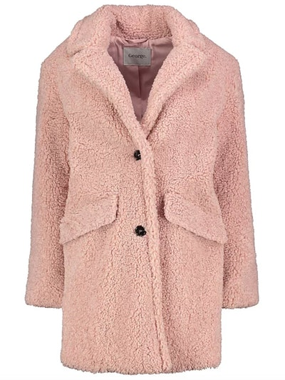 Pale Pink Teddy Bear Coat