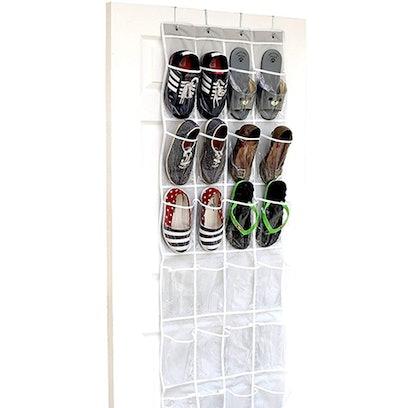 Simple Houseware Clear Hanging Shoe Organizer (64'' x 19'')