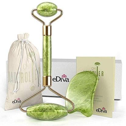 eDiva Jade Roller and Gua Sha Tool