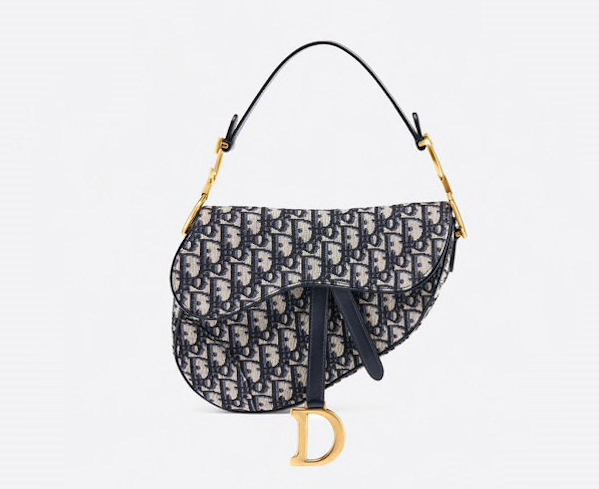 The Saddle Bag in Oblique Jacquard