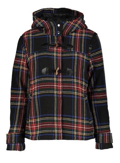 Multicoloured Check Duffle Jacket