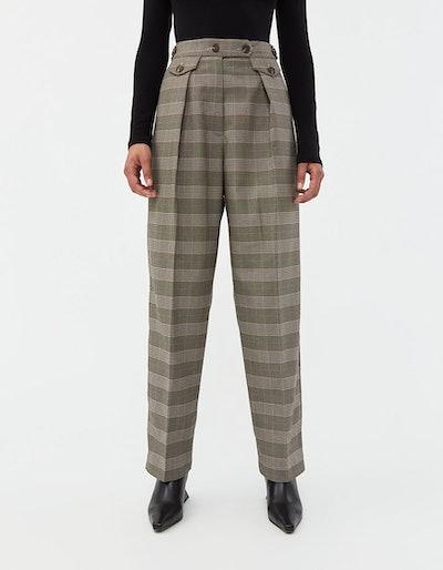 Plaid Pleat Pants