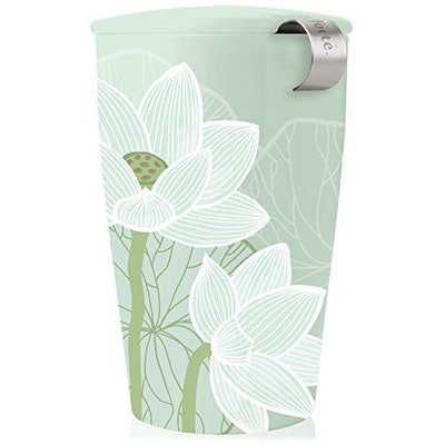 Tea Forte Ceramic Cup with Infuser Basket
