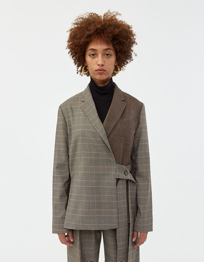 Color Block Oversized Jacket