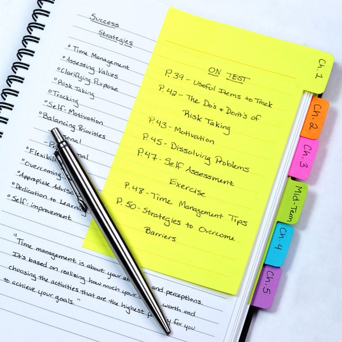Redi-Tag Divider Sticky Notes Tabbed Self-Stick Lined Note Pad (60 Ruled Notes)