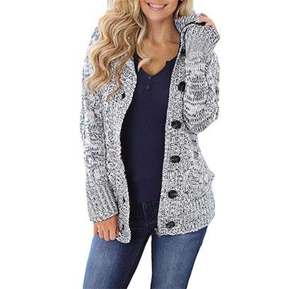 Sidefeel Women's Sweater Coat