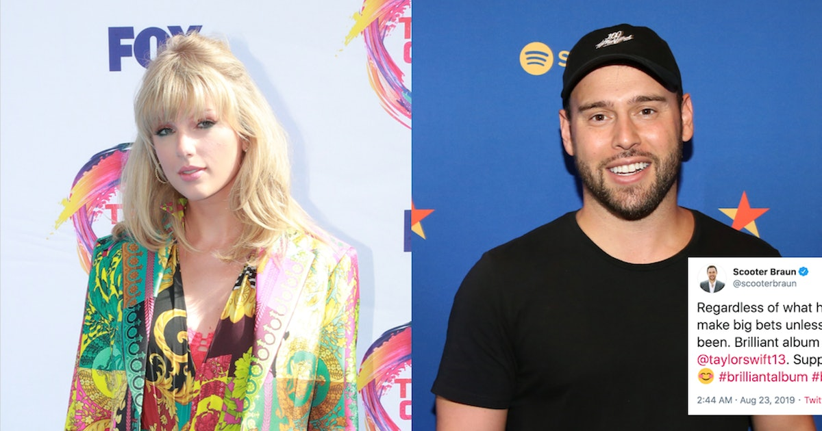 "Scooter Braun Called Taylor Swift's 'Lover' Album ""Brilliant"" On Twitter, But Fans Don't Want To Hear It"