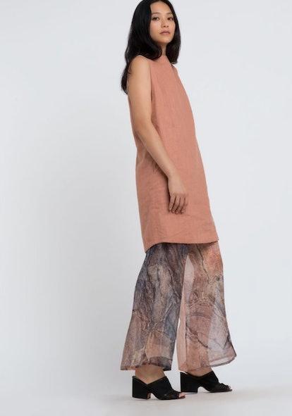 Wide Leg Organza Silk Pant