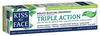 Kiss My Face Triple Action Gel Toothpaste (4.5 Oz.)