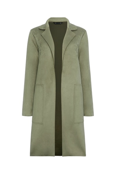 F&F Khaki Suedette Duster Coat