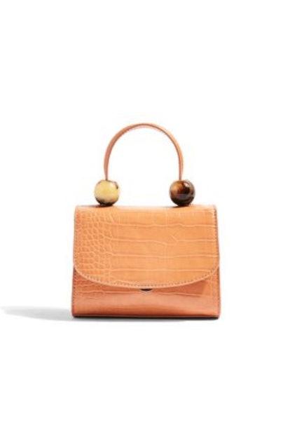 Mason Apricot Croc Mini Bag