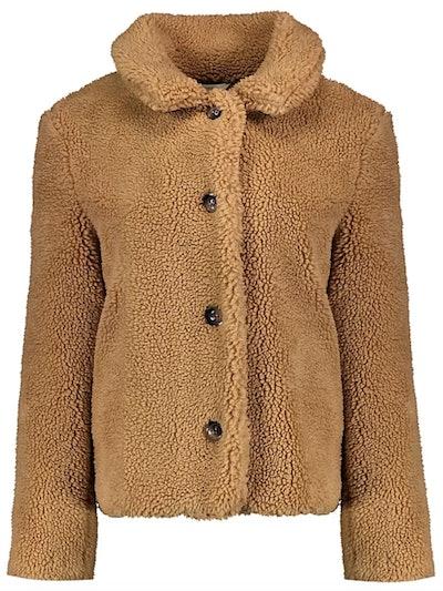Brown Borg Button Fastening Coat