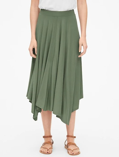 Handkerchief Midi Skirt