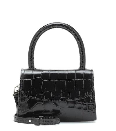 Mini Croc-Effect Leather Tote