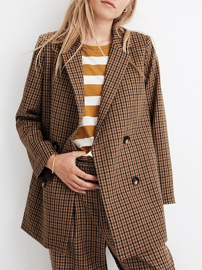 Caldwell Double-Breasted Blazer in Desert Check