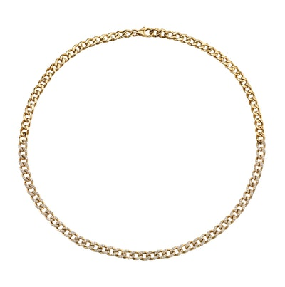 Perfect Diamond Curb Link Necklace