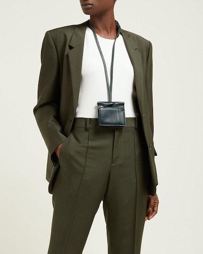 Maria Mini Leather Necklace Bag