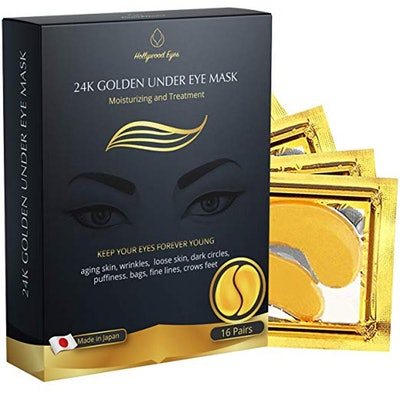 Bright Jungle 24K Gold Collagen Eye Masks (16 Pairs)