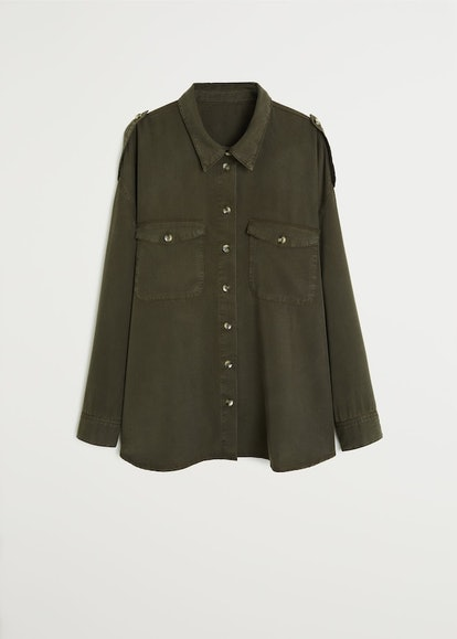 Pocket Textured Shirt