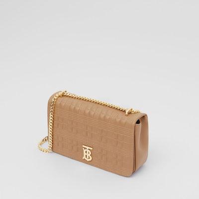 Medium Quilted Check Lambskin Lola Bag