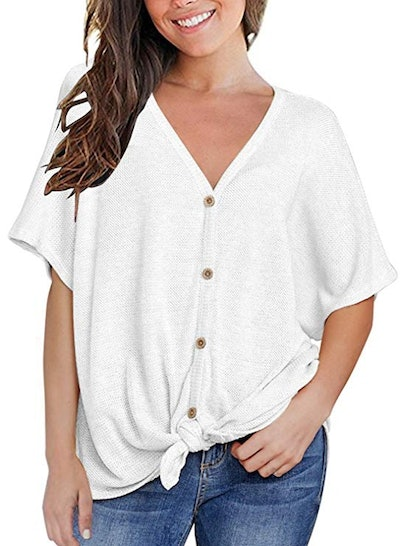 Miholl Relaxed Button Down Top