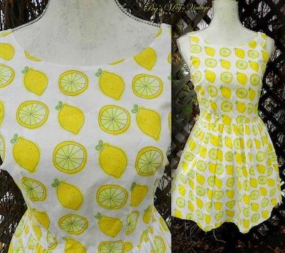 Summer Print Lemon Dress