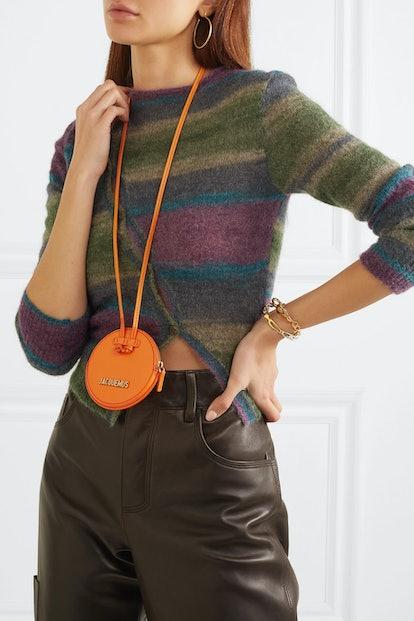 Le Pitchou Mini Textured Leather Pouch