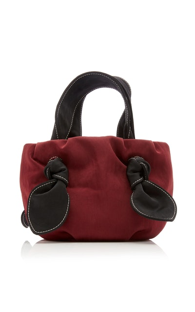 Ronnie Two-Tone Knotted Satin Tote