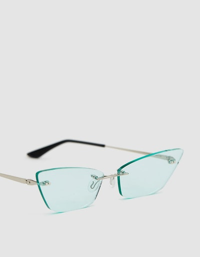 #05 Mint Rimless Sunglasses