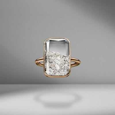 Moritz Glik Kaleidoscope Diamond Shaker Ring