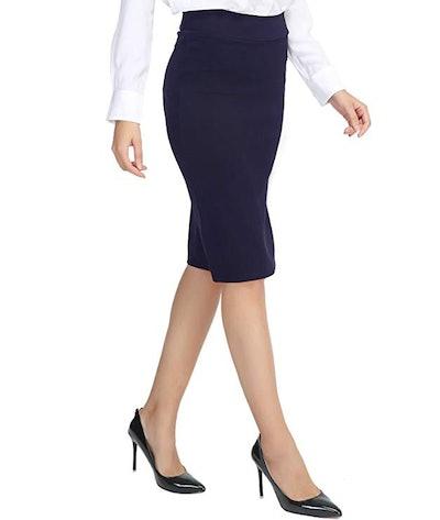Urban CoCo Elastic Waist Pencil Skirt