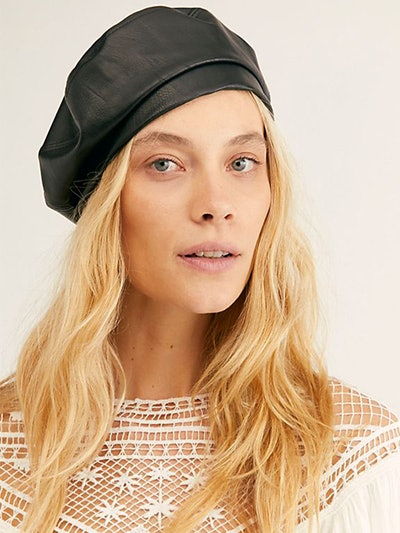 Alibi Vegan Leather Beret