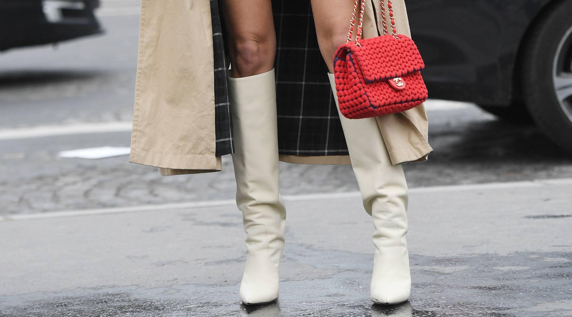 White Boots Earrings