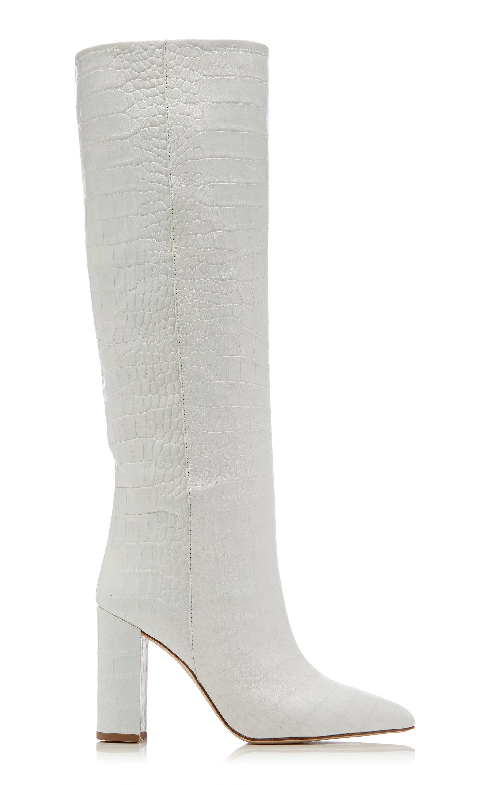 Fall's White Knee-High Boot Trend