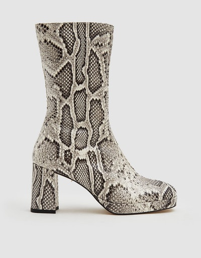 Carlota Leather Boot in Snake Multi