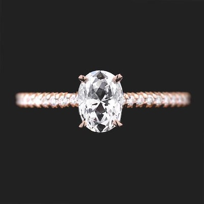 Hope Accented Engagement Ring Setting