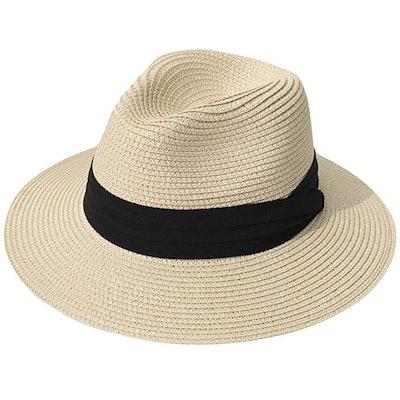 Lanzom UPF 50 Straw Sun Hat