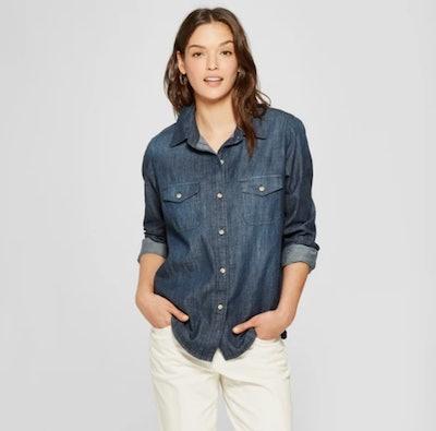Universal Thread Labette Long Sleeve Denim Shirt