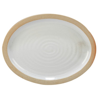 Certified International Artisan Oval Ceramic Serving Platter