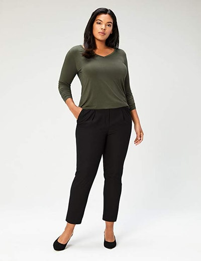 Daily Ritual Women's Plus Size Jersey Long-Sleeve V-Neck T-Shirt