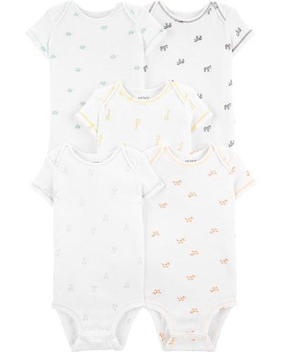 5-Pack Animal Print Original Bodysuits