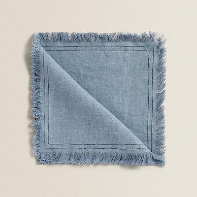 Frayed Linen Napkin (Pack Of 4)