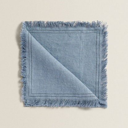 Frayed Linen Napkin (Pack Of 4)