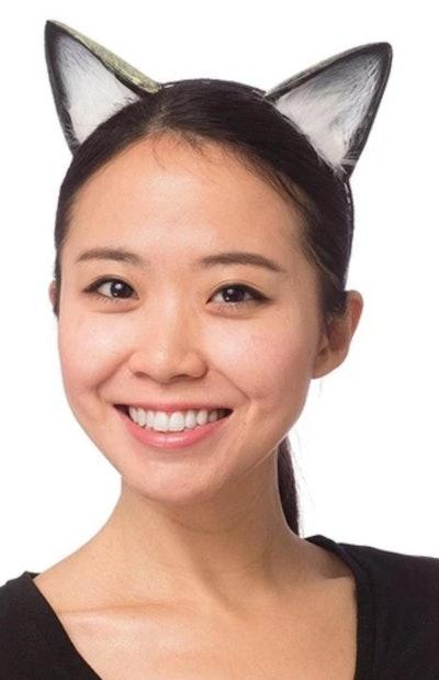 HMS Supersoft Costume Black Cat Ears